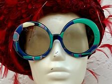 Emilio Pucci Iconic Huge Rare Multicolored Vintage 70's Sunglasses
