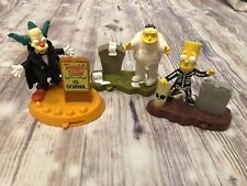 The Simpson's Halloween Lot 3 Barney Mummy Bart Krusty Burger King Figure 2001