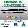 LandCruiser bonnet scoop Decal Sticker for VDJ 70 76 78 79 series V8