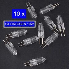10 x G4 HALOGEN LIGHT BULB - 10W - 12V - WHITE GLOBE LAMP