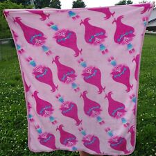"Trolls Pink Poppy Soft Throw Blanket 40""x50"" DreamWorks"
