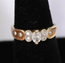 7.5 Band Cz Cubic Zirconia 14Kt 14K Solid Gold Engagement Wedding Ring Size