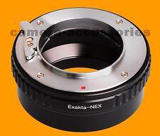 Exakta Exa Lente Sony E Monte Adaptador Nex-5 5n 5t 5r el Nex-6 Nex-7 Alpha 0,8% 7
