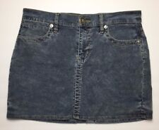 Tommy Jeans Juniors Size 7 Skirt Mini Short Corduroy Blue Gray