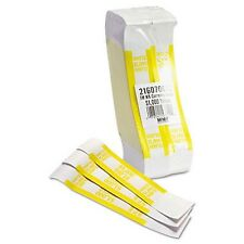 Self-Adhesive Currency Bands Straps, Yellow, $1000 in $10 Bills, 2000 Bands New