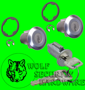 Ford F Series In Dash Ignition & Door Lock Key Cylinder Tumbler Set 2 Keys