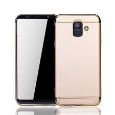 Funda protectora móvil para Samsung Galaxy A6 2018 carcasa 3 in 1 ESTUCHE oro