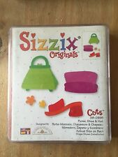 SIZZIX DIE grand chapeau rouge chaussure sac à main vêtements fashion 38-0995 RETIRED