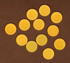 Yahtzee Game Replacement Parts 12 Yellow Bonus Chips Hasbro Parker Bros 1998