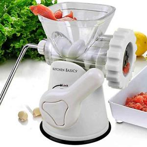 Kitchen Basics 3 N 1 Manual Meat and Vegetable Grinder Mincer, 3 Size Sausage