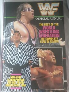 WWF WWE WRESTLING OFFICIAL ANNUAL THE COMPLETE YEAR IN REVIEW HARDBACK BOOK 1993