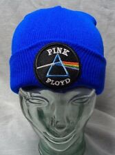 pink floyd patch on beanie knit hat ski cap dark side of the moon classic rock