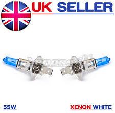 H1 55W 5000K SUPER WHITE XENON (448) Head Light Bulbs 12v ULTRA BRIGHT BULBS