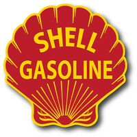 VINTAGE SHELL OIL V2 GAS GASOLINE SUPER HIGH GLOSS OUTDOOR 4 INCH DECAL STICKER