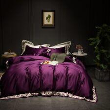Egyptian cotton purple 4pcs Bedding Set Duvet Cover set Pillowcase bed linen Set
