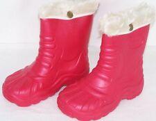 sehr leichte Winterstiefel gefüttert Stiefel Rot 30/31 Wasserdicht Neu