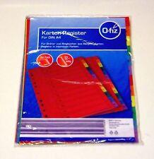 cartón Registro DIN A4 Multicolor para Expedientes y ringbücher 12 teilig 2