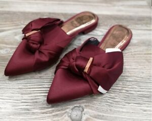TED BAKER LONDON TULOUS SATIN BOW LOAFERS SIZE 4 EU 37 RRP £120