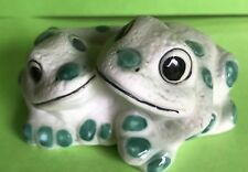 Cat Charity Auction Pair of cuddling Frogs  I like the colour of these. REDUCED