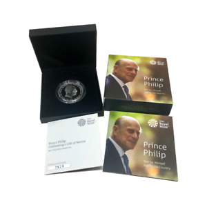 Royal Mint 2017 Prince Philip Celebrating a Life of Service Silver Proof £5 Coin