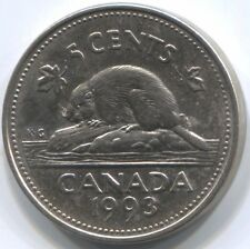 1993 CANADA FIVE CENTS Coin