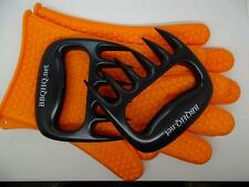 Pulled Pork & Beef? Claw & Heat Resist Silicone Glove Set - Roast and BBQ Meats