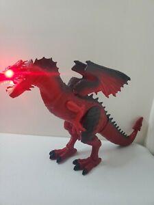 Red Rs Dinosaurs Island Animated Walking Roaring Light Up Toy dinosaur dragon