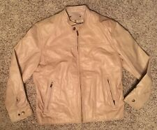 New Mens Tan Motorcycle Jacket Wilsons Leather M. Julian Size Large