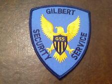 Gilbert Security Service GSS Patch Lorton Virginia police