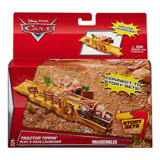 Disney Pixar Cars -tractor Tippin Play & Race Launcher Story Set