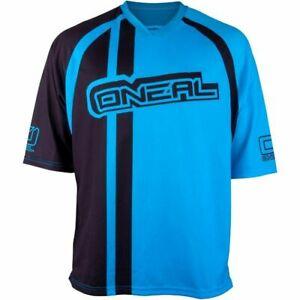 O'Neal Stormrider V-neck Collar Men's Cycling Jersey Black Blue Size XXL