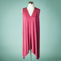 Anthropologie Eri Ali Small Size S Dress Briella Mauve Tunic Sleeveless Stretch