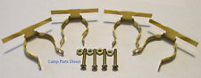 (Lot of 4) Brass Night Light Clips w/Nut and Screw. Made in the USA.