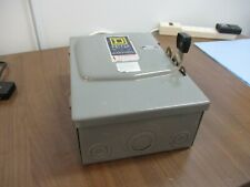 Square D Fusible Safety Switchdisconnect D 322n 60a 240v Used