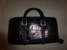 Brighton Small Mini Embossed Leather Tote Evening Bag Handbag Purse Satchel
