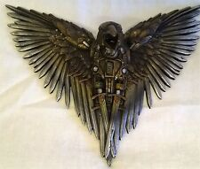 STEAMPUNK DESIGN BLADE RAVEN WALL MOUNTED BIRD PLAQUE OR FIGURE - NEMESIS NOW