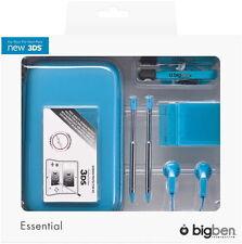 Bigben Nintendo New 3DS Tasche Essential Pack Case für Konsole blau BB340457