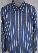 Abercrombie & Fitch Muscle Blue striped long sleeve shirt men's size XL