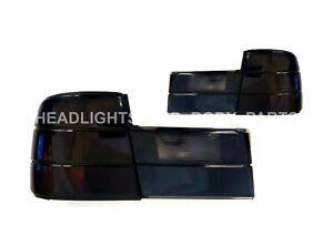 TAIL LAMP(BLACK) set, 4 pcs, With Socket, tuning (sedan) FITS FOR BMW 5 E34 88-