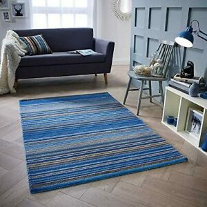 Carter Blue Wool Rug, Handmade Wool Rug, 160 x 230cm, 100% Wool, Contemporary