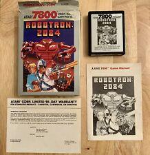 ATARI 7800 GAME ~ Robotron: 2084 (Atari 7800, 1986) Complete! CIB!