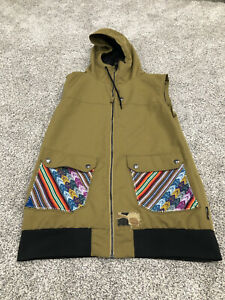 Armada Ski Men's M Winter Sports Vest Green Full Zip Hooded Embroidered H1