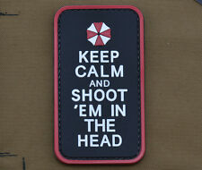 """PVC / Rubber Patch """"Keep Calm Umbrella"""" with VELCRO® brand hook"""