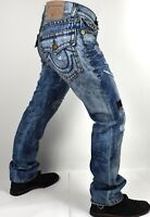 True Religion Men's Ricky Patchwork Relaxed Straight Super T Jeans - MDA859N43F