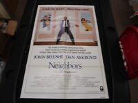 1 Sheet Movie Poster Neighbors 1981 John Belushi Dan Aykroyd Kathryn Walker ADV.