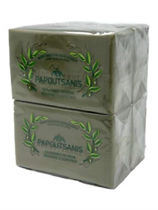 Papoutsanis Pure Greek Olive Oil Soap Of Bars, 8.8 oz, Pack Of 4 250g