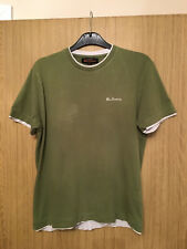 Ben Sherman Mens Olive Green T-Shirt - Size Small