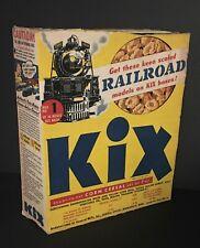 """1947 """"Kix"""" Cereal Box - Cut-Out Railroad Models #1 - Premium Offer"""