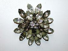 Beautiful Vintage Cluster Star Rhinestone Pin Brooch
