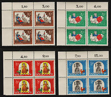 OPC 1967 Germany Set Sc#B426-9 Mi#538-41 Numeral Corner Margins MNH VF